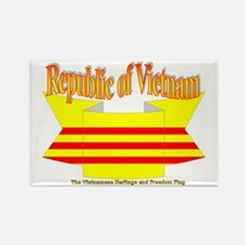 The Vietnamese-american flag ribbon Rectangle Magn
