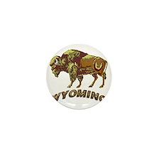 Wyoming state crest e4 Mini Button