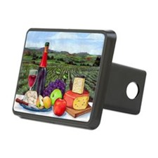 Wine  Cheese landscape Hitch Cover