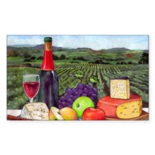 Wine  Cheese landscape Decal