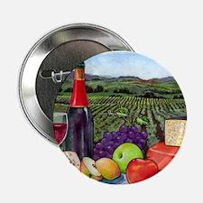"Wine  Cheese landscape 2.25"" Button"