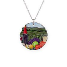 Wine  Cheese landscape Necklace