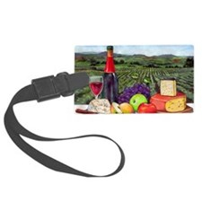 Wine  Cheese landscape Luggage Tag