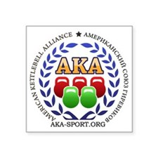 "American Kettlebell Allianc Square Sticker 3"" x 3"""