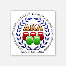 "American Kettlebell Allianc Square Sticker 3"" x 3"""