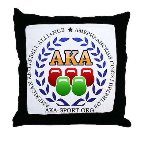 American Kettlebell Alliance Throw Pillow