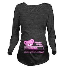 Baby GIRL Loading (cute bear design) Long Sleeve M