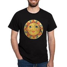 PLATE-Sun-Red-goldballs-rev T-Shirt