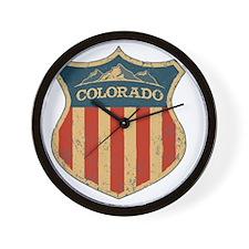 Colorado Shield Wall Clock