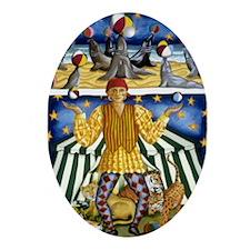 The Juggler Oval Ornament