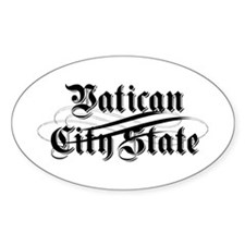 Vatican City State Oval Decal