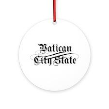 Vatican City State Ornament (Round)