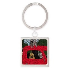 Cairn Terriers Square Keychain