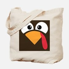 Thanksgiving Turkey Face Tote Bag