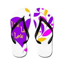 Live Laugh Love Heart Flip Flops