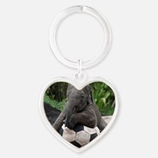 Elephant Soccer Heart Keychain