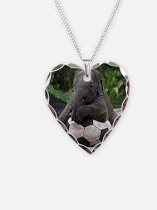 Elephant Soccer Necklace