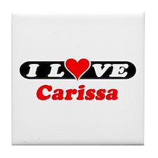 I Love Carissa Tile Coaster
