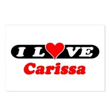 I Love Carissa Postcards (Package of 8)