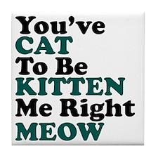 Kitten Meow Funny Tile Coaster