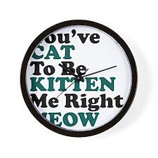 Kitten Meow Funny Wall Clock