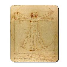 Da Vincis Vitruvian Man Mousepad