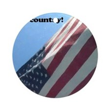 i love this country Round Ornament