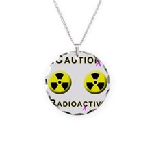 Caution Radioactive Necklace Circle Charm