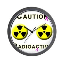 Caution Radioactive Wall Clock