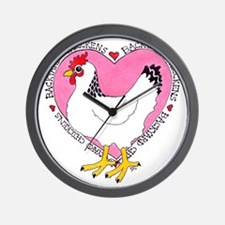 Backyard Chicken Luv Wall Clock