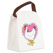 Backyard Chicken Luv Canvas Lunch Bag