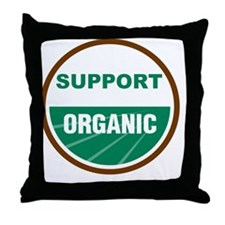 Support Organic Throw Pillow