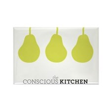 The Conscious Kitchen Pears Tote Rectangle Magnet