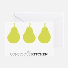 The Conscious Kitchen Pears Tote Greeting Card