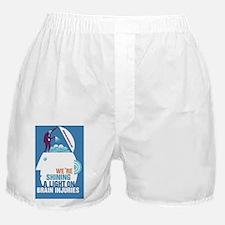 Blue Shining a Light On Brain injury Boxer Shorts
