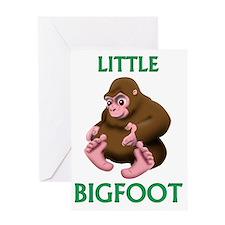 Little Bigfoot Greeting Card