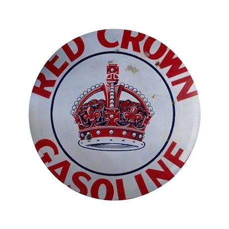 """Red Crown Gasoline 3.5"""" Button"""