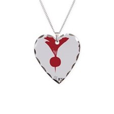 The Conscious Kitchen Radish  Necklace Heart Charm