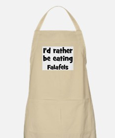 Rather be eating Falafels BBQ Apron