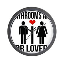 Bathrooms are for lovers Wall Clock