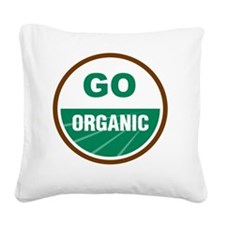 Go Organic Square Canvas Pillow