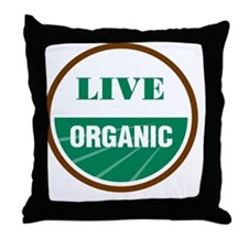 Live Organic Throw Pillow