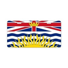 British Columbian Flag Aluminum License Plate