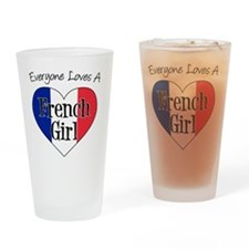 Everyone Loves French Girl Drinking Glass