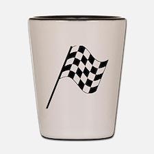 Racing Flag Shot Glass