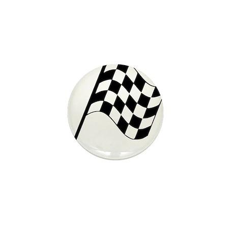 Racing Flag Mini Button