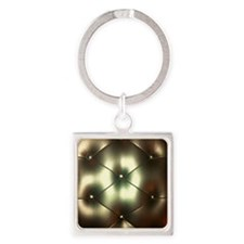 Golden Couch Square Keychain