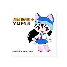 """Anime+ Yuma Square Sticker 3"""" x 3"""""""