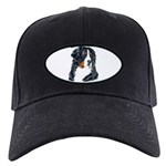 Bernese Mountian Dog Portrait Black Cap
