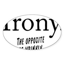 Irony definition Decal